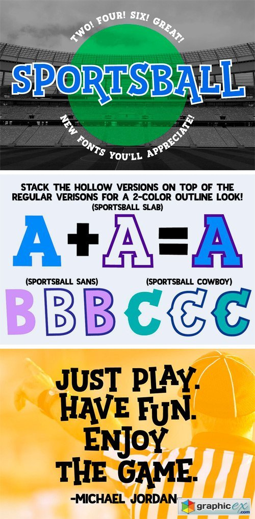 Sportsball: Fun Font with Alternates