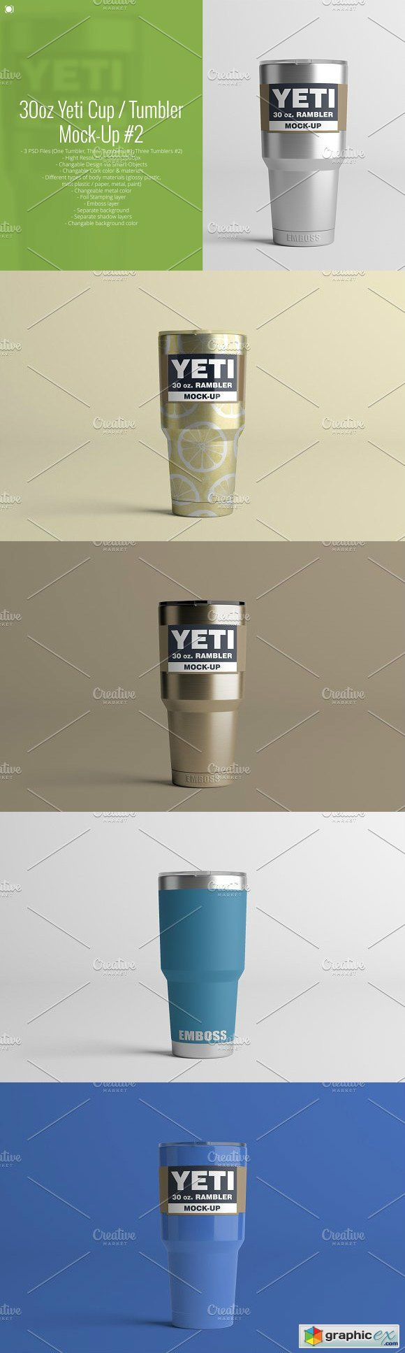 30oz. Yeti Cup Tumbler Mock-Up 2