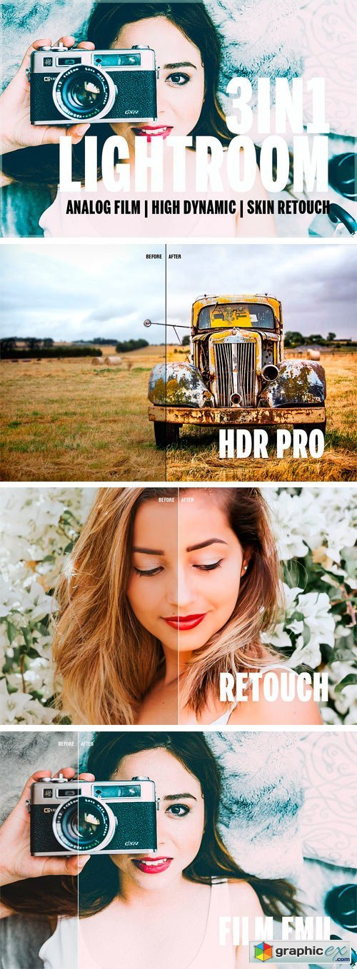 3in1 Lightroom Bundle 90LR Presets