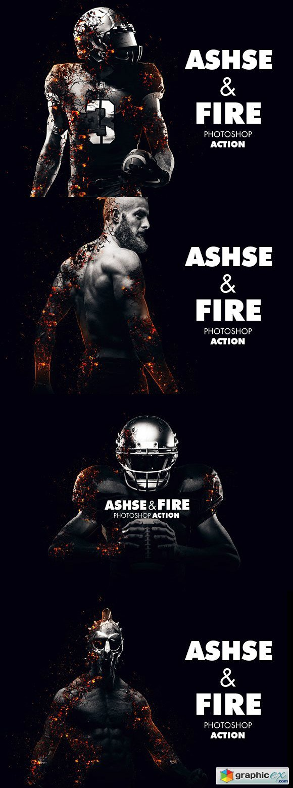 Ashes and Fire Photoshop Action