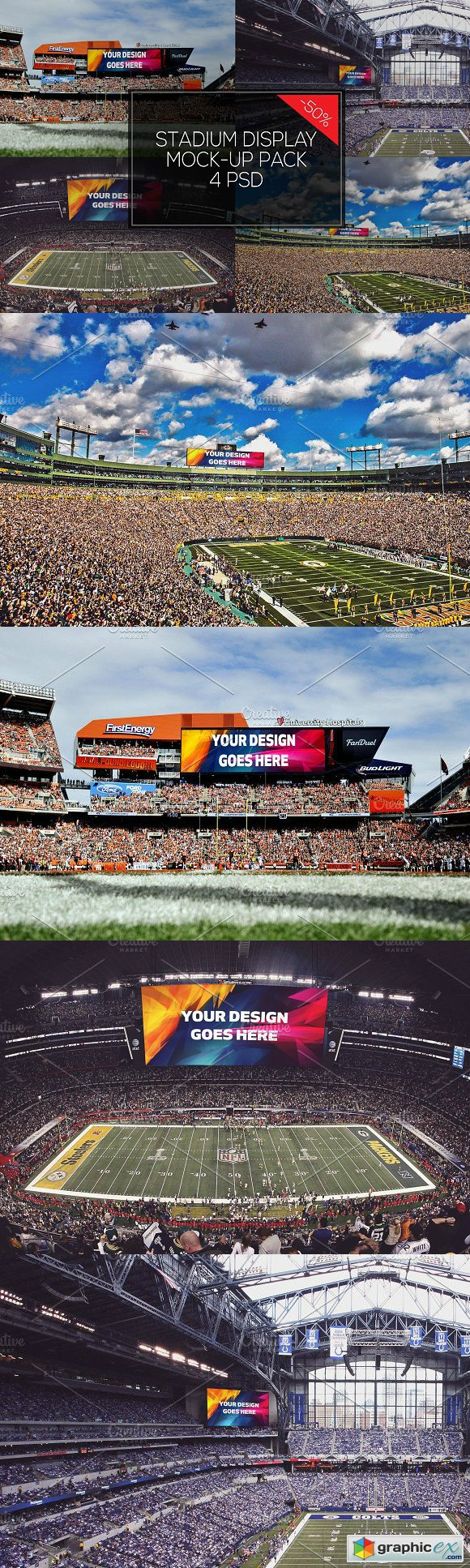 NFL Stadium Display Mock-up Pack 4