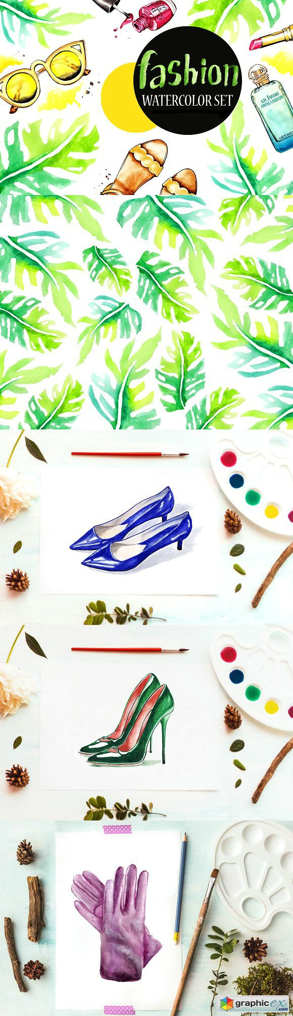 Fashion watercolor set