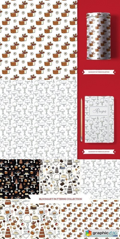Cakes patterns collection