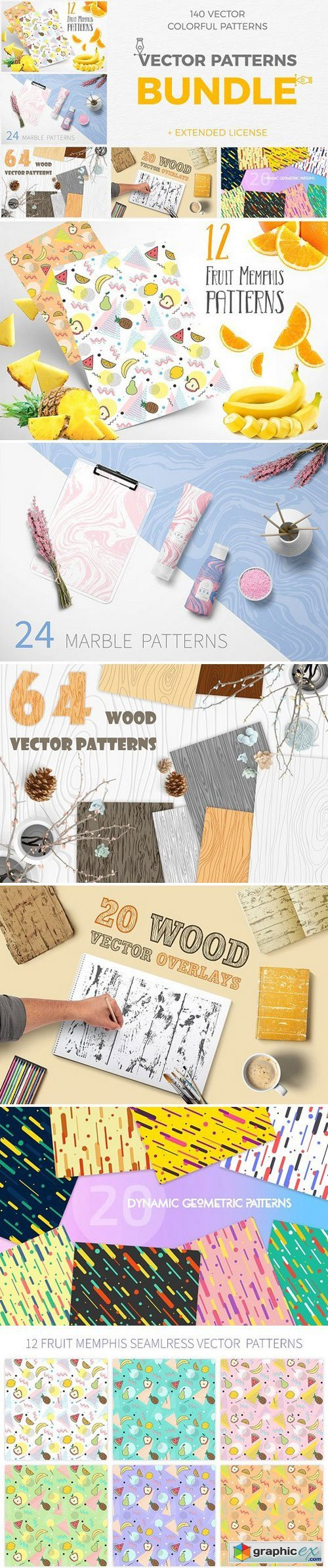 Vector Patterns Great Bundle 5 in 1