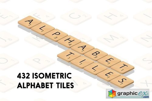 Isometric Alphabet Tiles
