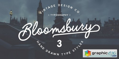 Bloomsbury Font Family - 3 Fonts