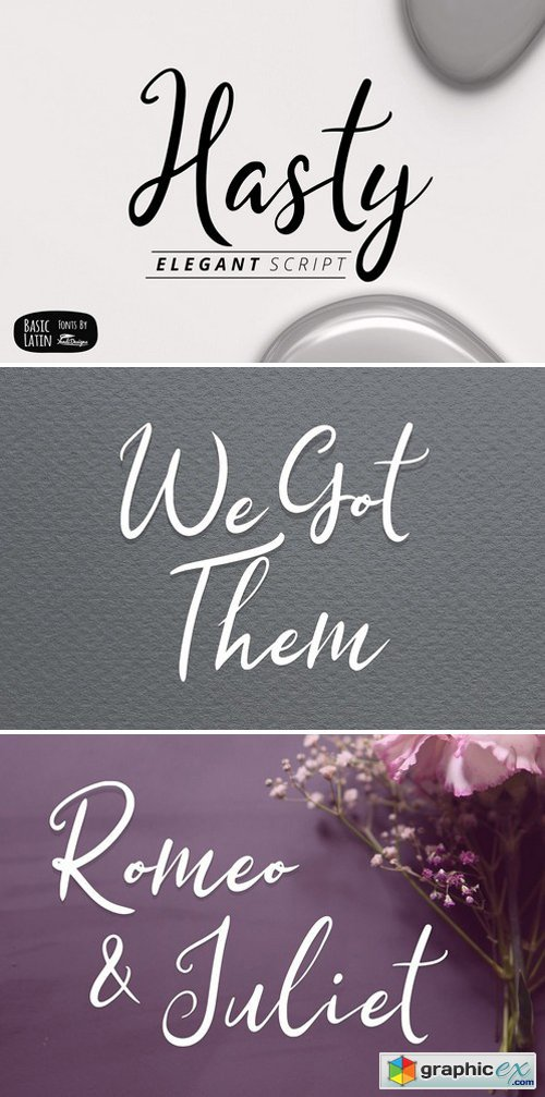 Hasty Elegant Font » Free Download Vector Stock Image Photoshop Icon