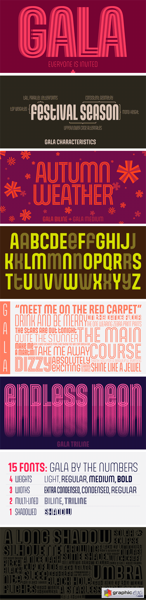Gala Font Family (Incomplete)
