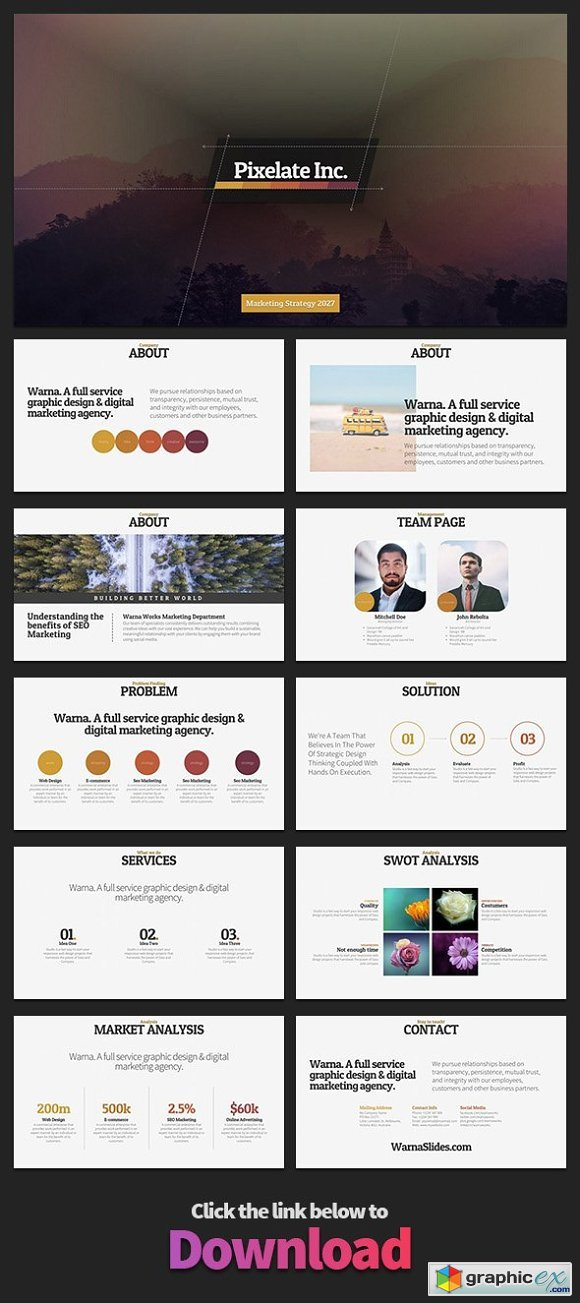 Pixelate PowerPoint Template