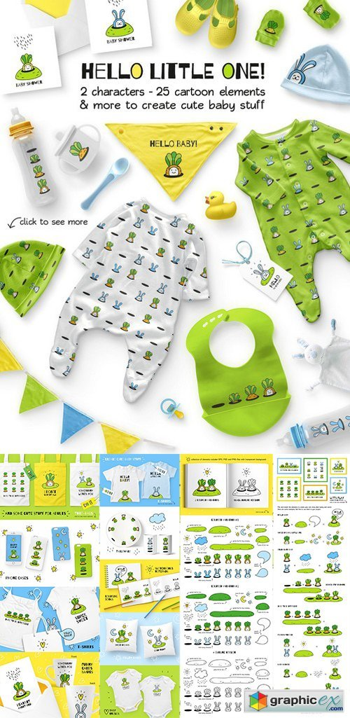 HELLO LITTLE ONE | BABY DESIGN SET
