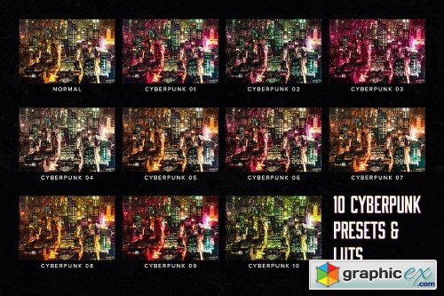 10 Cyberpunk Lightroom Presets LUTs » Free Download Vector