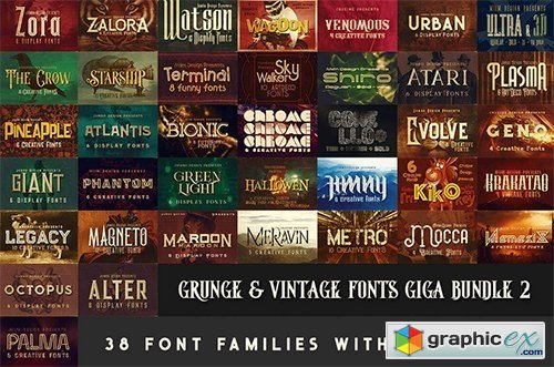230 Grunge Retro and Vintage Fonts