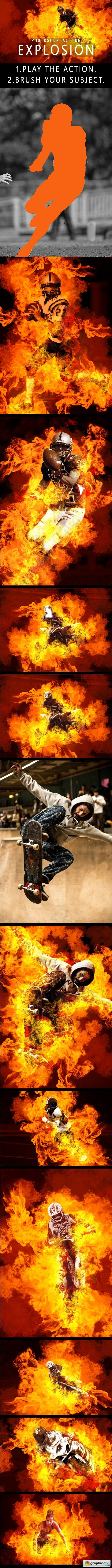 Explosion Photoshop Action 20684962