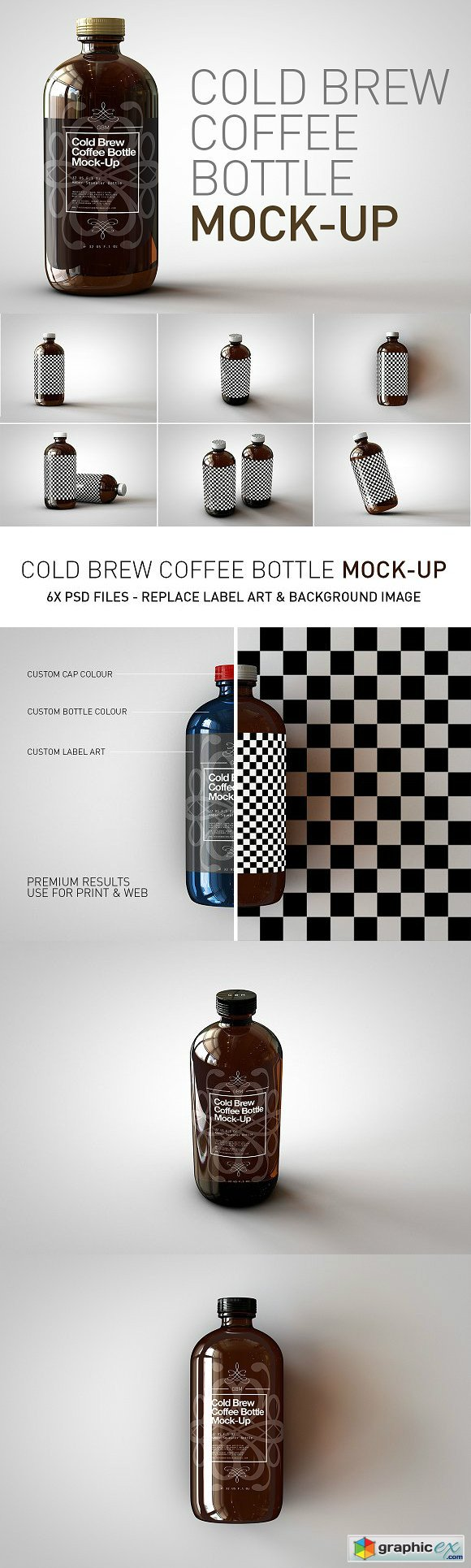 Cold Brew Coffee Bottle Mock-Up 1919862