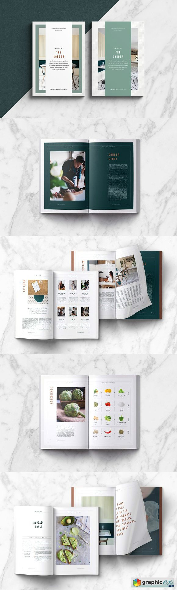 Sonder Cookbook Recipe Book