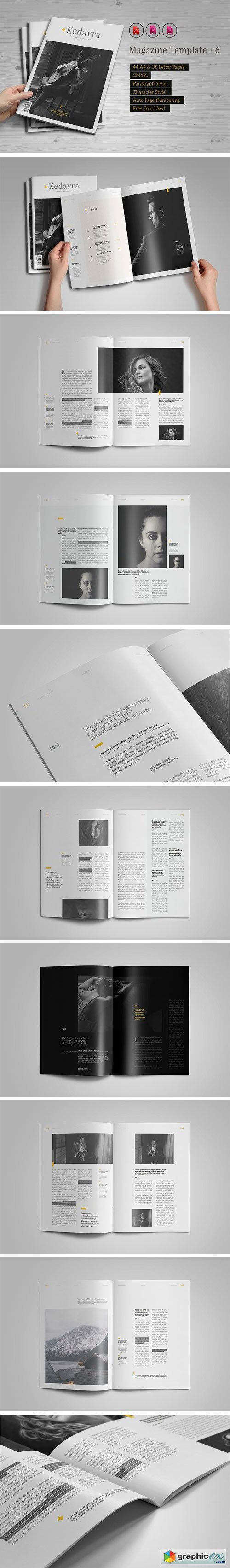 Indesign Magazine Template #6