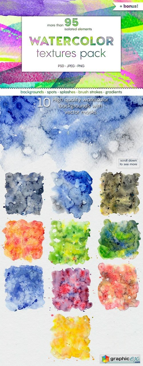 New WATERCOLOR Textures Pack