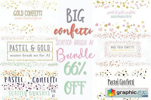 confetti scatter brush bundle