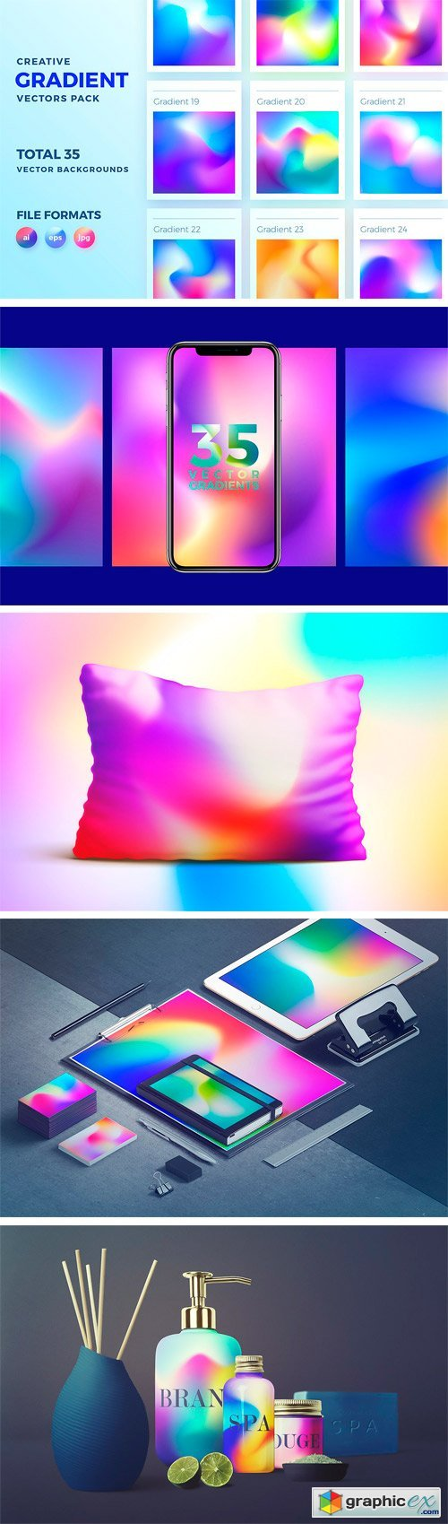 Creative Gradient Backgrounds Pack