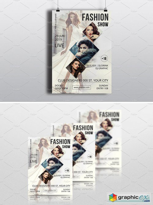 Fashion Show Flyer TemplateV Free Download Vector Stock Image - Free fashion show flyer template