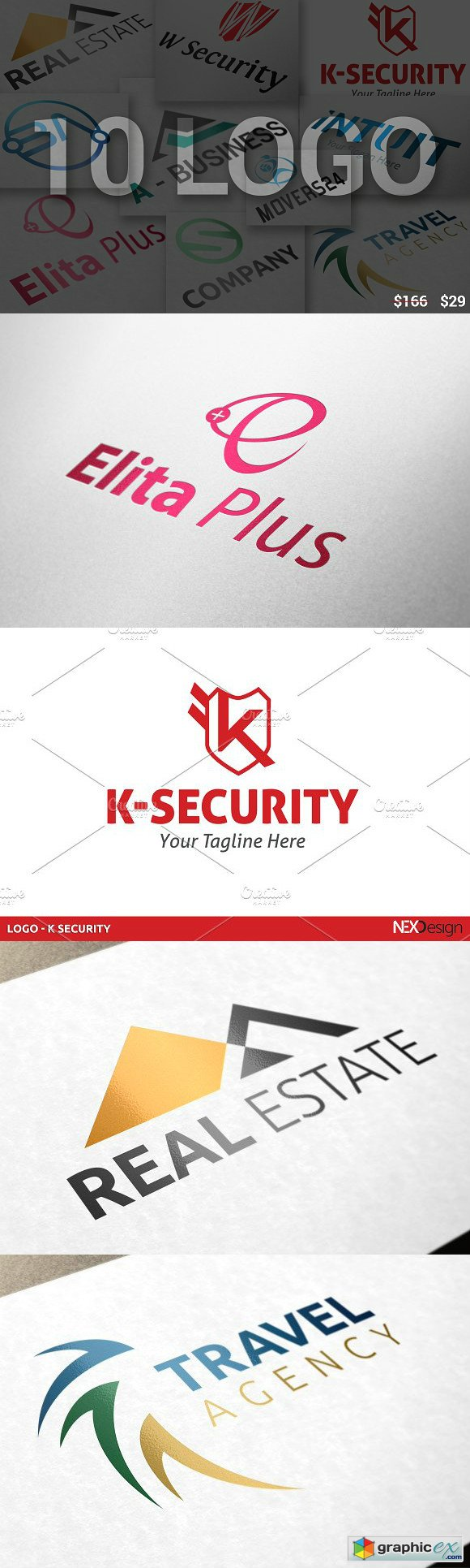 10 Business Logo Bundle - SK