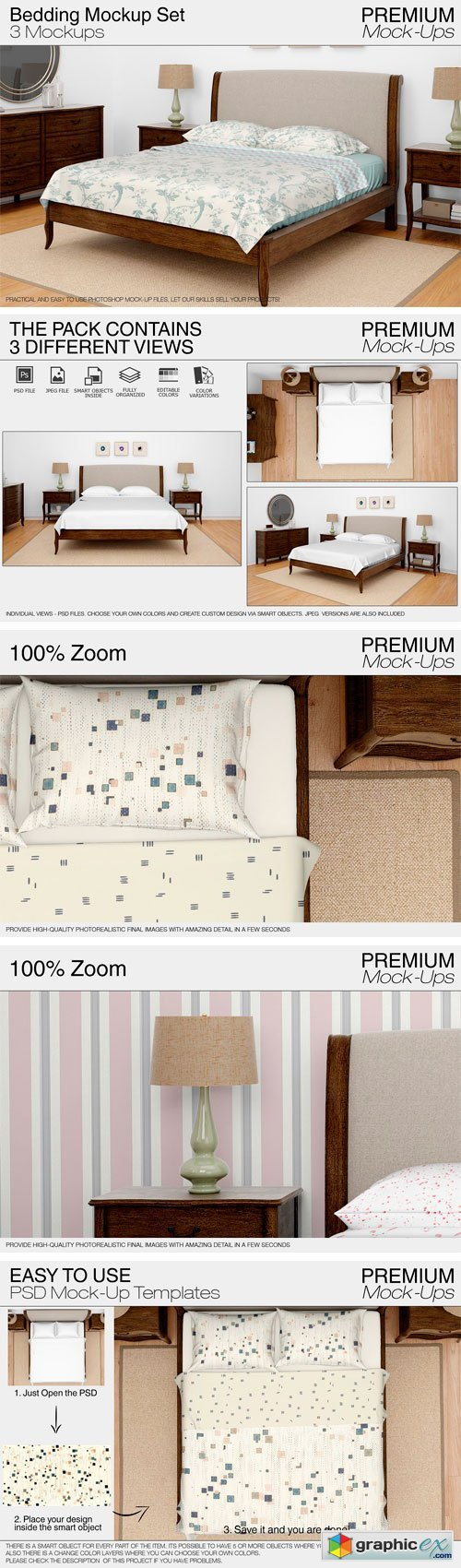 Bedding Mockup Set 1831261