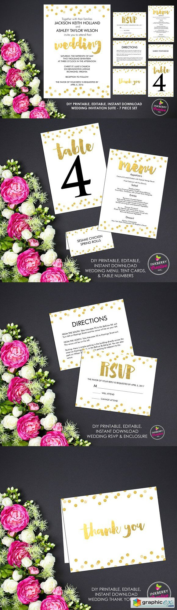 Gold Confetti Wedding Suite