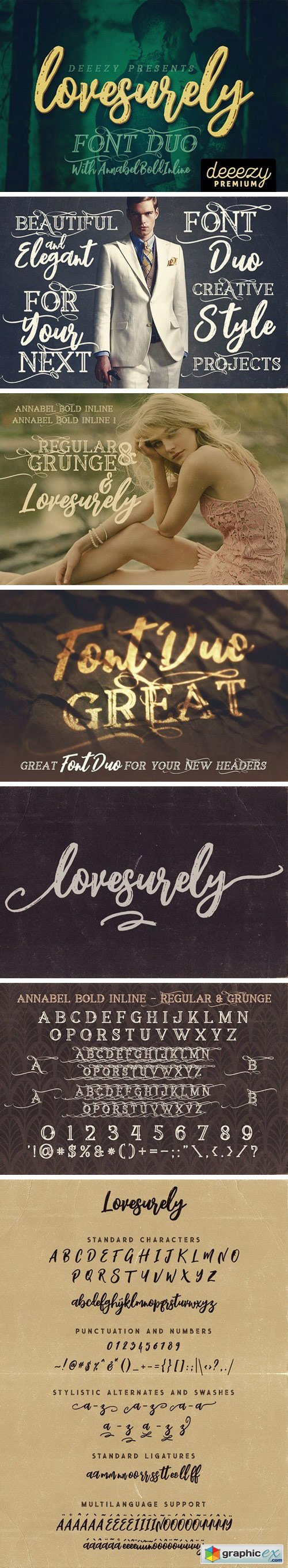 Lovesurely Font Duo