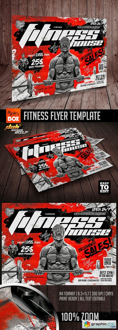 Fitness Flyer Template 20831184