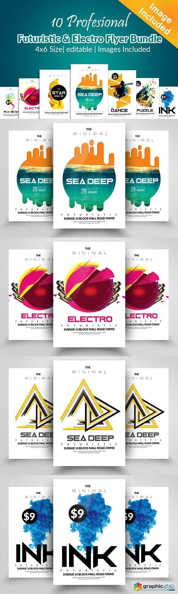 10 Electro Flyer Bundle Vol:02 » Free Download Vector Stock Image ...