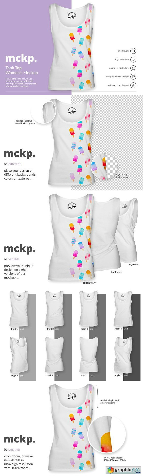 Tank Top by mckp - Womens Mockup