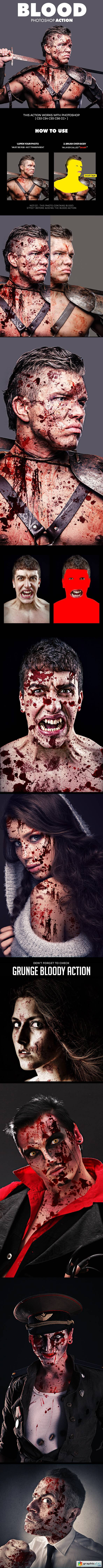 Blood Photoshop Action