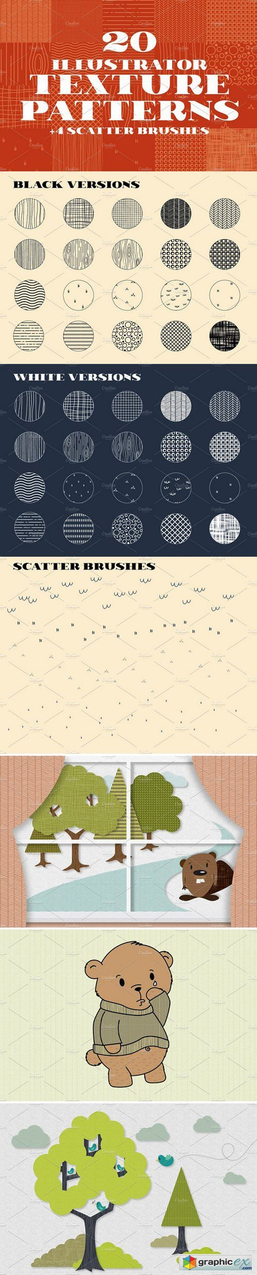 20 Illustrator Texture Patterns » Free Download Vector Stock Image