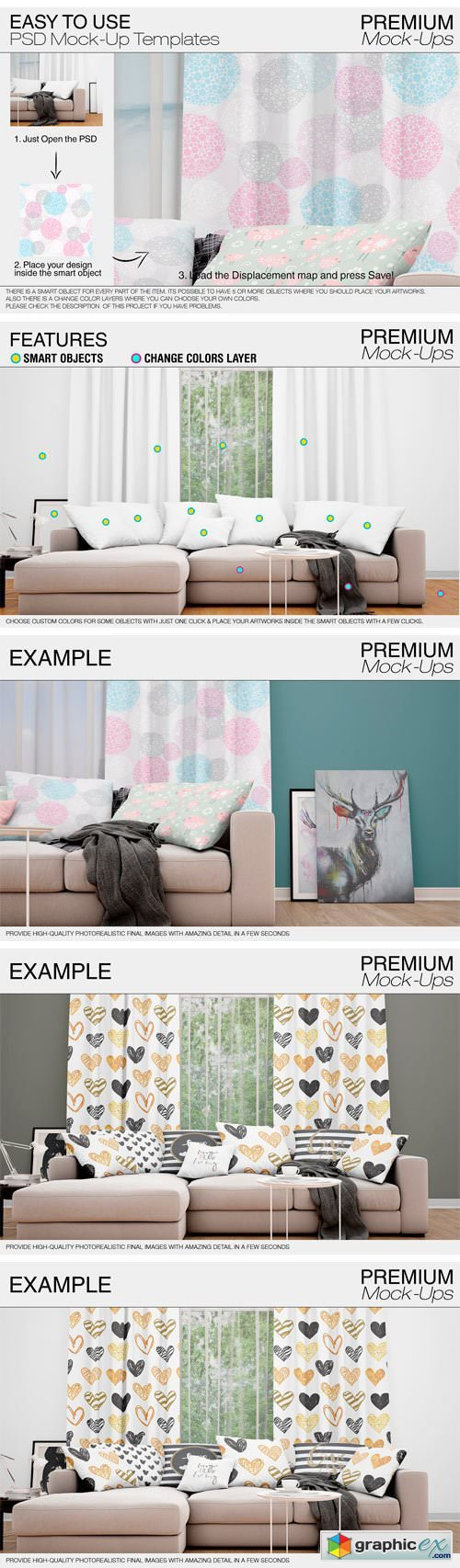 Curtains Mockup Set 1877580