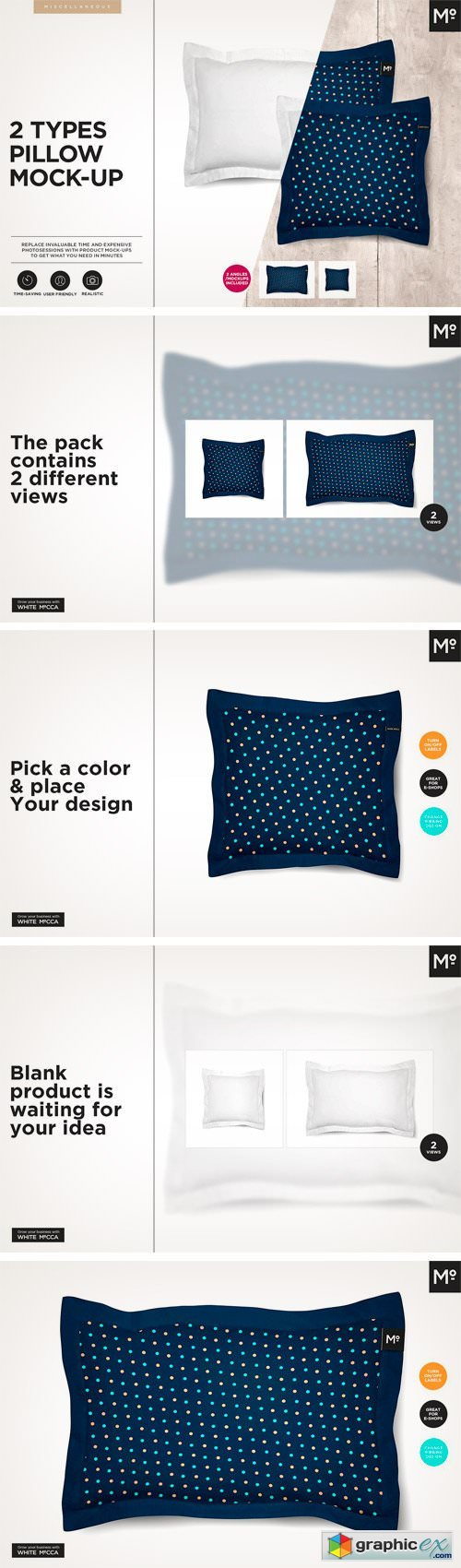 2 Types Pillow Mock-up
