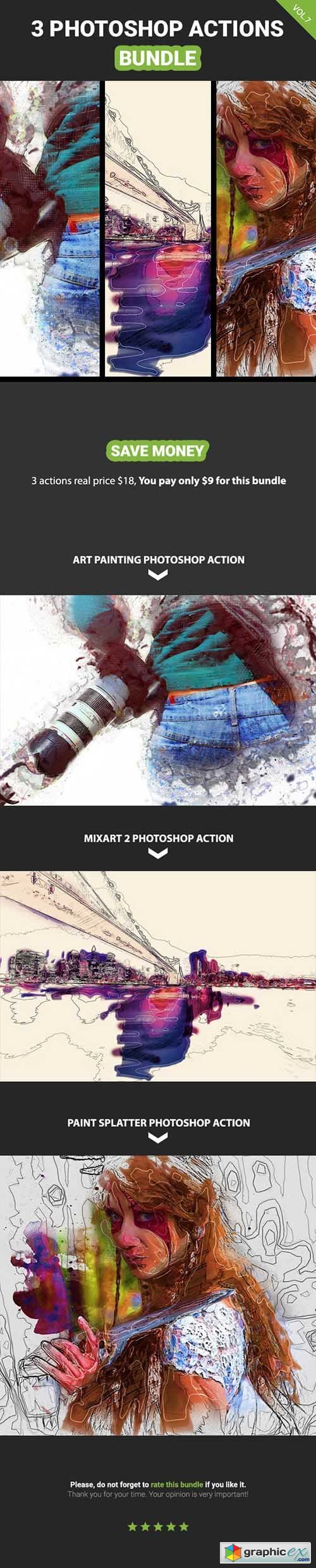 3 Photoshop Action Bundle - Vol.7