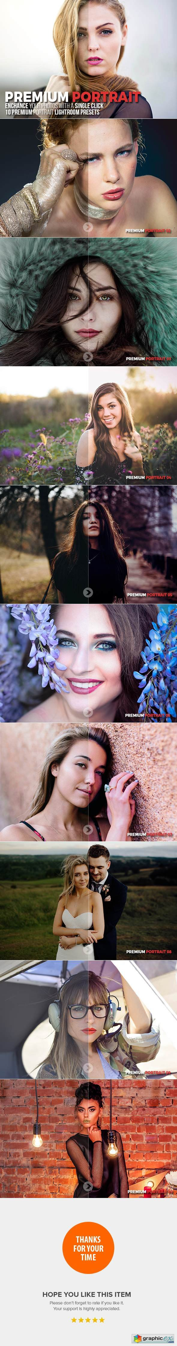 10 Premium Portrait Lightroom Presets