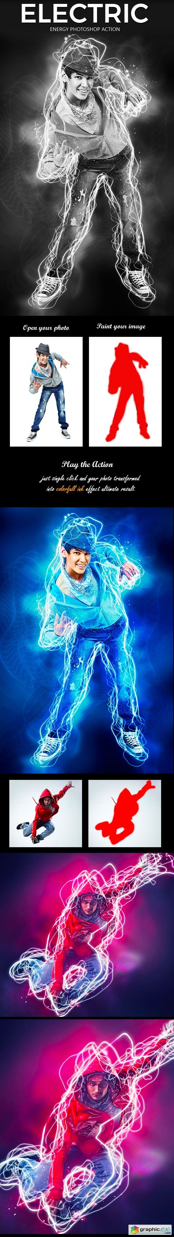 Electric Energy Photoshop Action 20845833