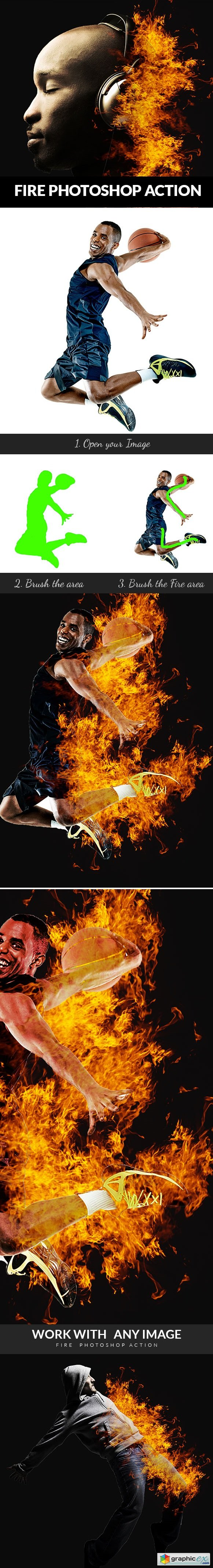 Fire Photoshop Action 20802507