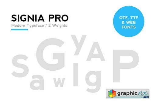 SIGNIA Pro Modern Typeface + WebFont » Free Download Vector