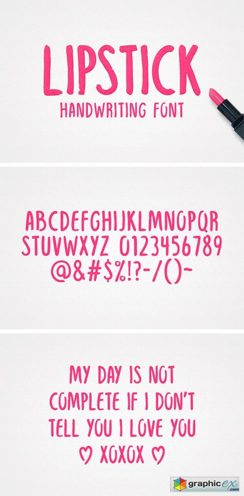 Lipstick Handwriting Font
