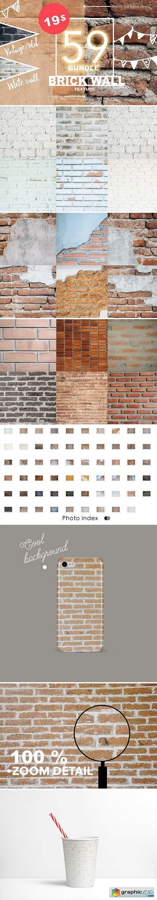 59 Brick wall texture bundle 01
