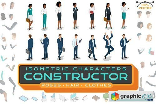 Isometric Characters Constructor Kit 2006789