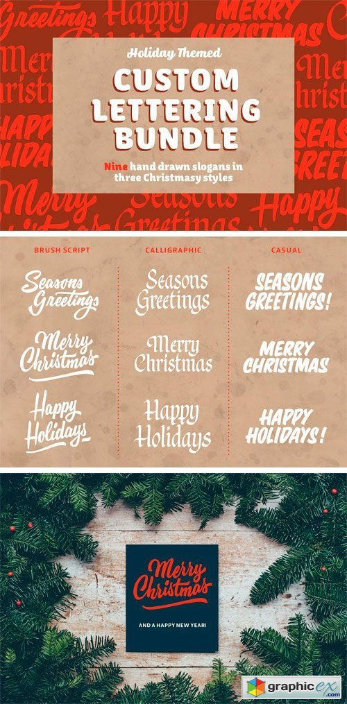 Holiday Lettering Bundle
