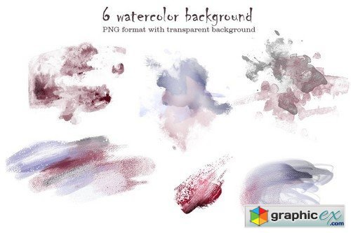 Watercolor Flower Clip Art -Burgundy