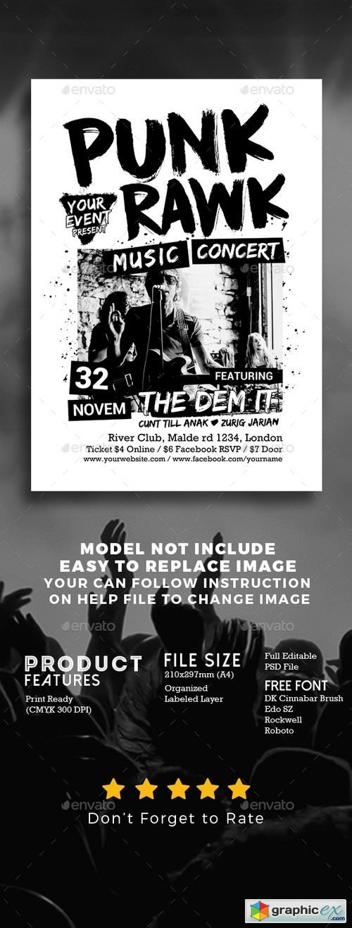 Punk Rock Music Show » Free Download Vector Stock Image