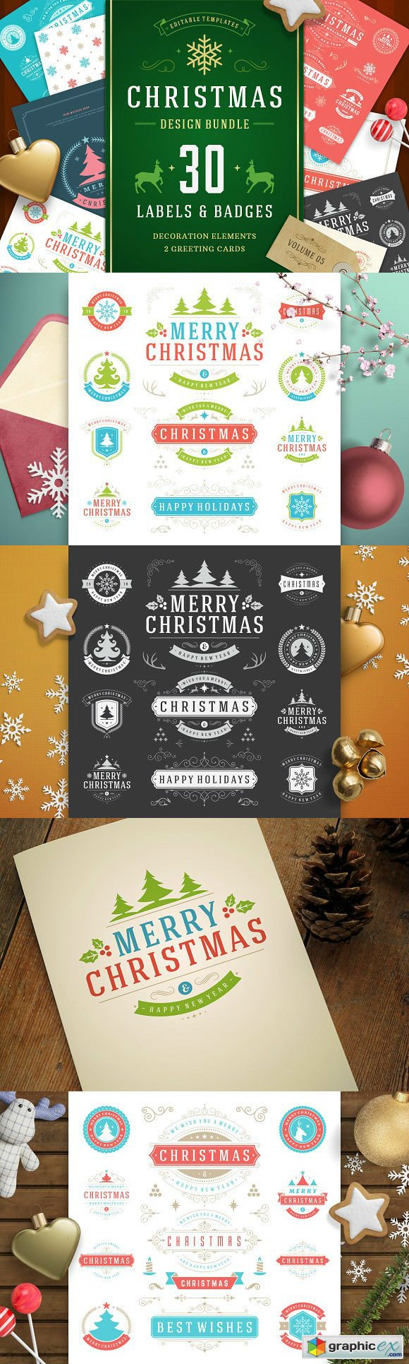 Christmas 30 labels and badges 1920721