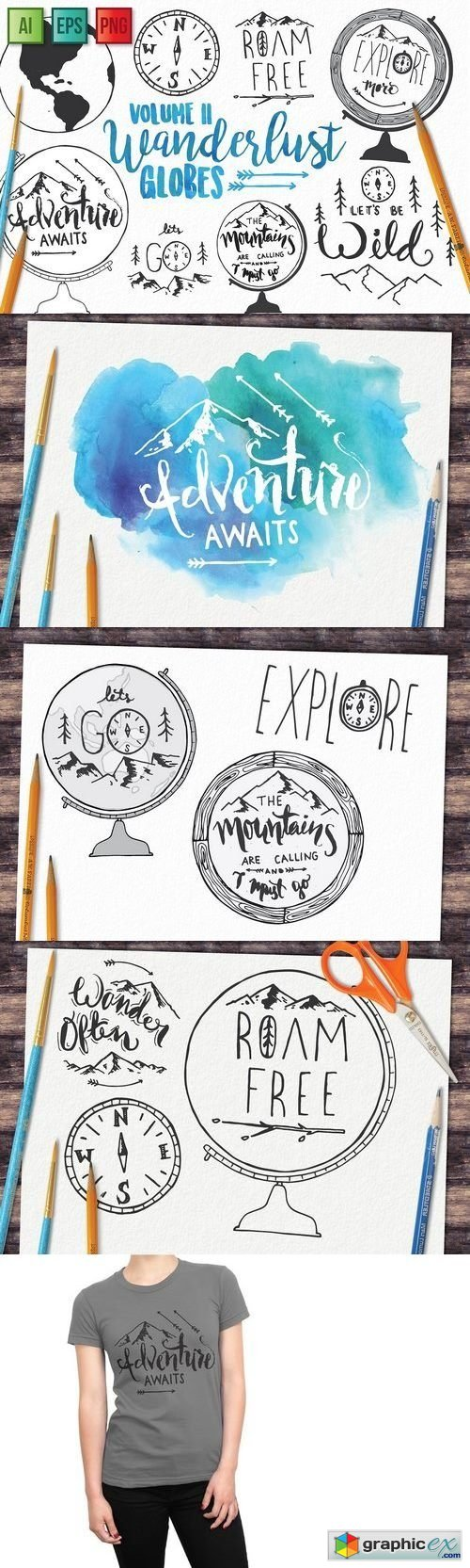 Adventure Globe Vector Pack
