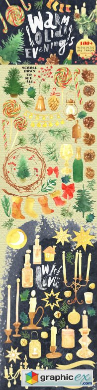 Watercolor Christmas clipart 1969090