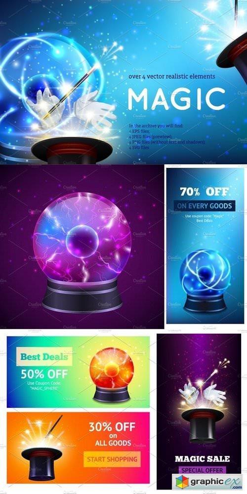 Magic Realistic Set » Free Download Vector Stock Image Photoshop Icon